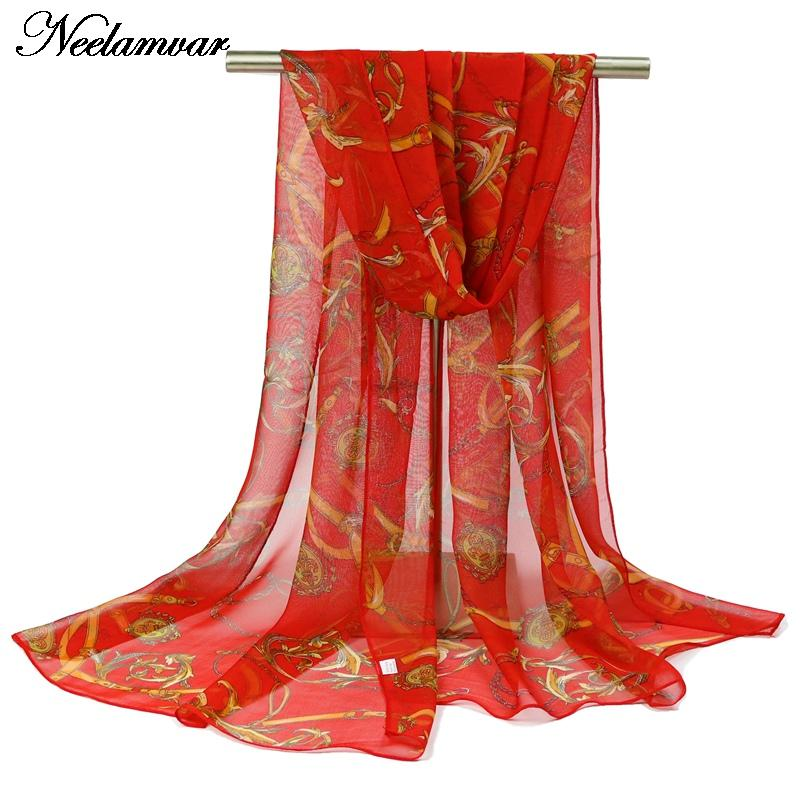 2016 new fashion soft scarfs georgette Chiffon Scarf for elegant women scarves shawls and scarves national style