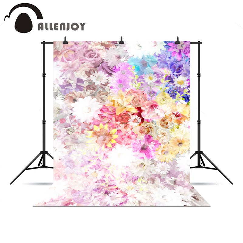 Allenjoy background for photo shoots Beautiful spring flowers baby gorgeous bright backgrounds for photo studio new Year цена