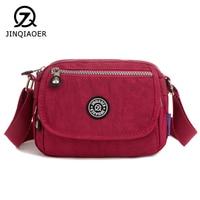 JINQIAOER Waterproof Women's Wallet Brand Messenger Bags Ladies Small Purse Teenage Girls Simple Light Zip Handbag Female Bolsa
