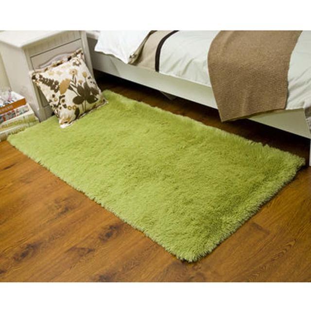 flauschigen teppich anti skiding shaggy bereich teppich esszimmer teppich bodenmatte g grn zottige teppiche shag - Esszimmer Bereich Teppiche