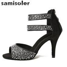 Женские туфли для латиноамериканских танцев samisoler черные