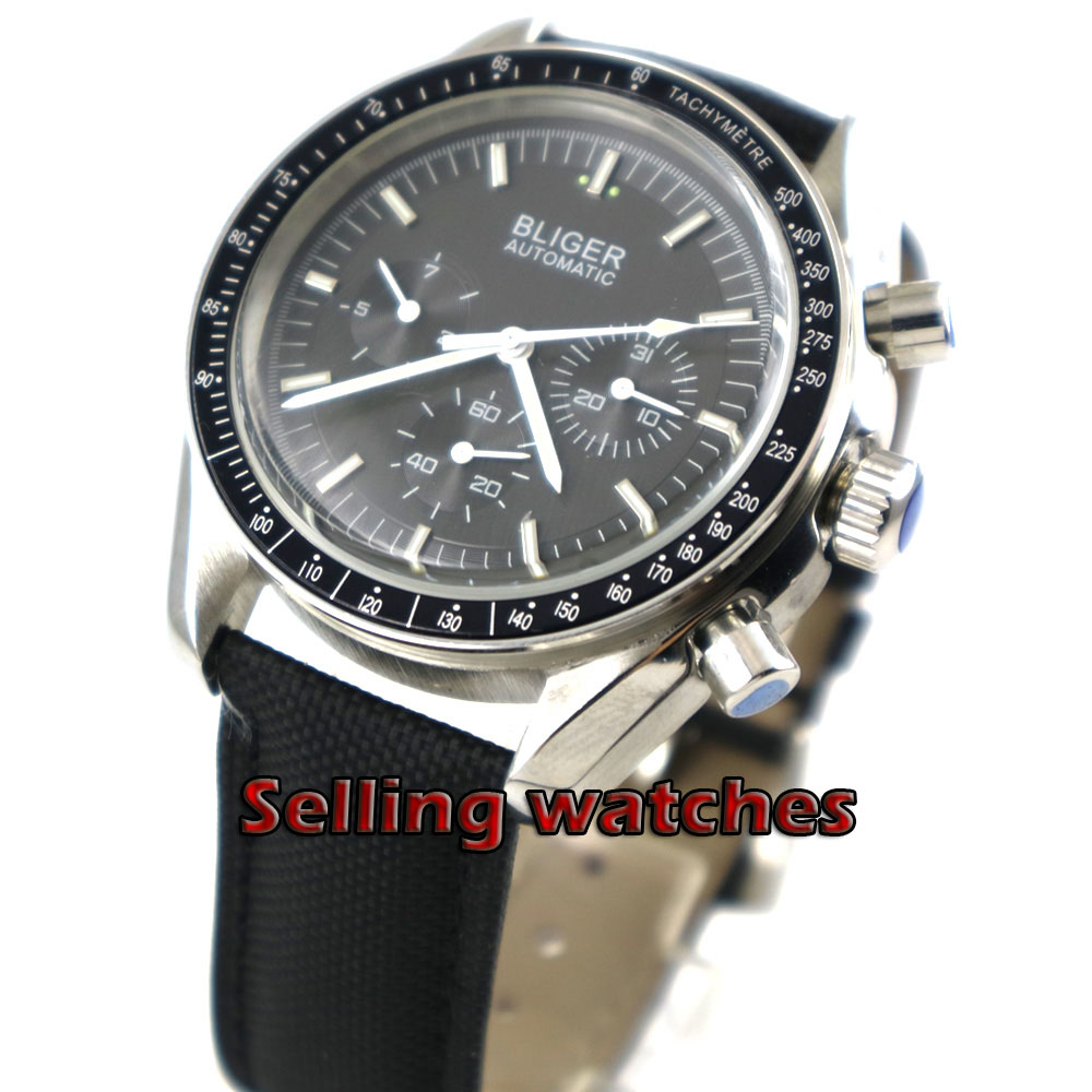 40mm bliger 2019 Men Watches Top Brand Luxury Military Analog Automatic Watch Mens Grey Dial Wristwatch40mm bliger 2019 Men Watches Top Brand Luxury Military Analog Automatic Watch Mens Grey Dial Wristwatch