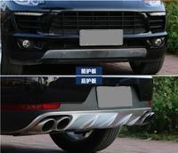 Front + Rear Bumper Lip Diffuser Protector Guard Skid Plate For Porsche Cayenne 2011 2012 2013 2014 2015 / 2016 2017