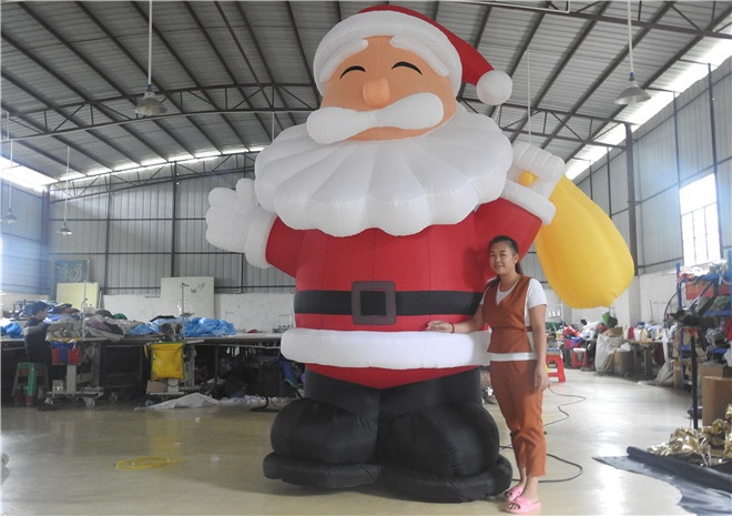 3m Inflatable Santa Claus Inflatable Advertising Product With Blower For Christams Day santa claus holiday printed pillow case