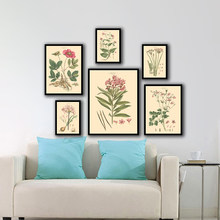 Decoration Nordic Watercolor Style Cuadros Posters And HD Prints Wall Art Canvas Painting Pictures Flowers Canvas For Living Roo(China)