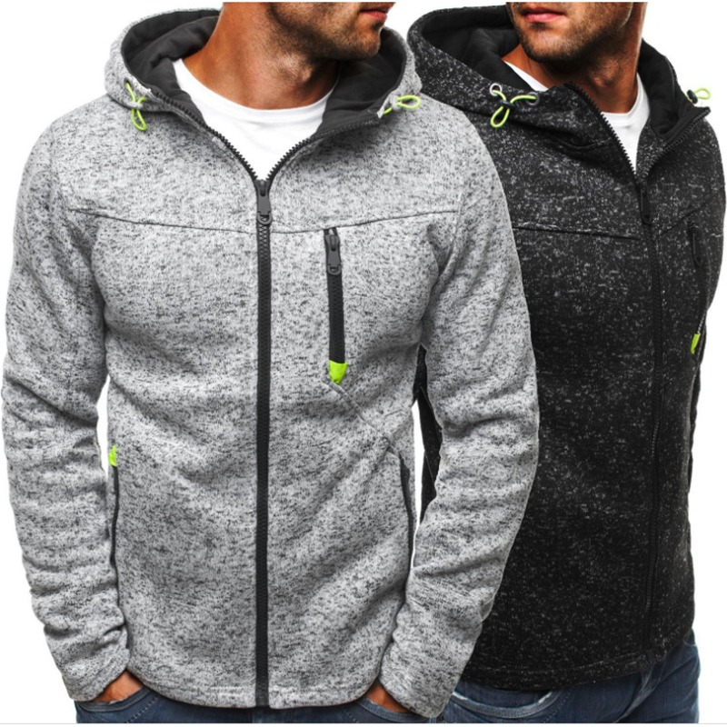 75b60ffc160 Men Sports Casual Wear Zipper COPINE Fashion Tide Jacquard Hoodies Fleece  Jacket Fall Sweatshirts Autumn Winter