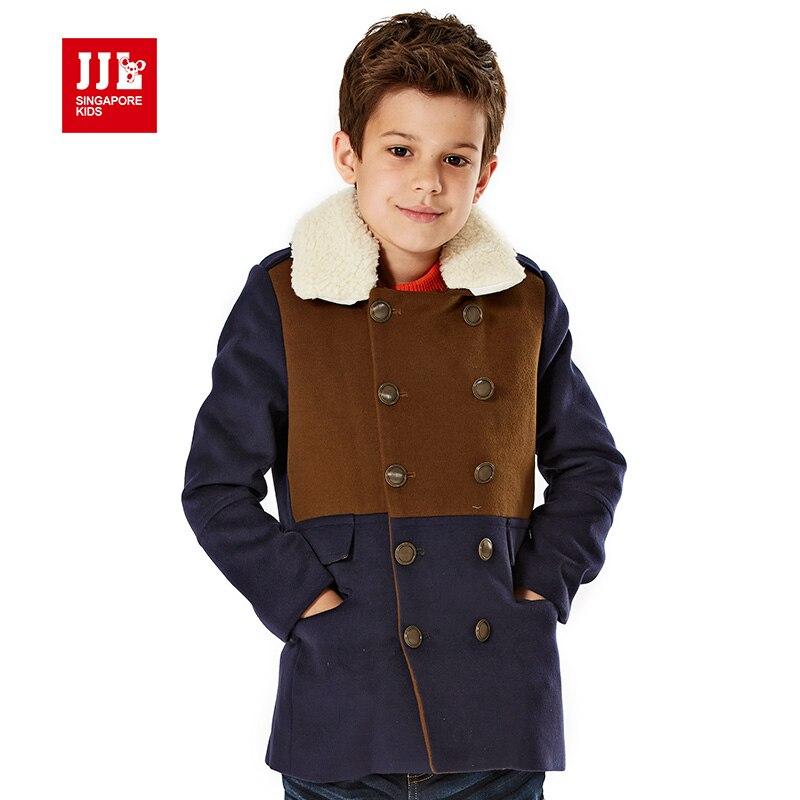 Boys Dressing Gown: Boys Dress Coat Winter Kids Parka Fur Lining Extreme Warm