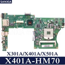 KEFU X401A Laptop motherboard for ASUS X301A X401A X501A Test original mainboard HM70(China)
