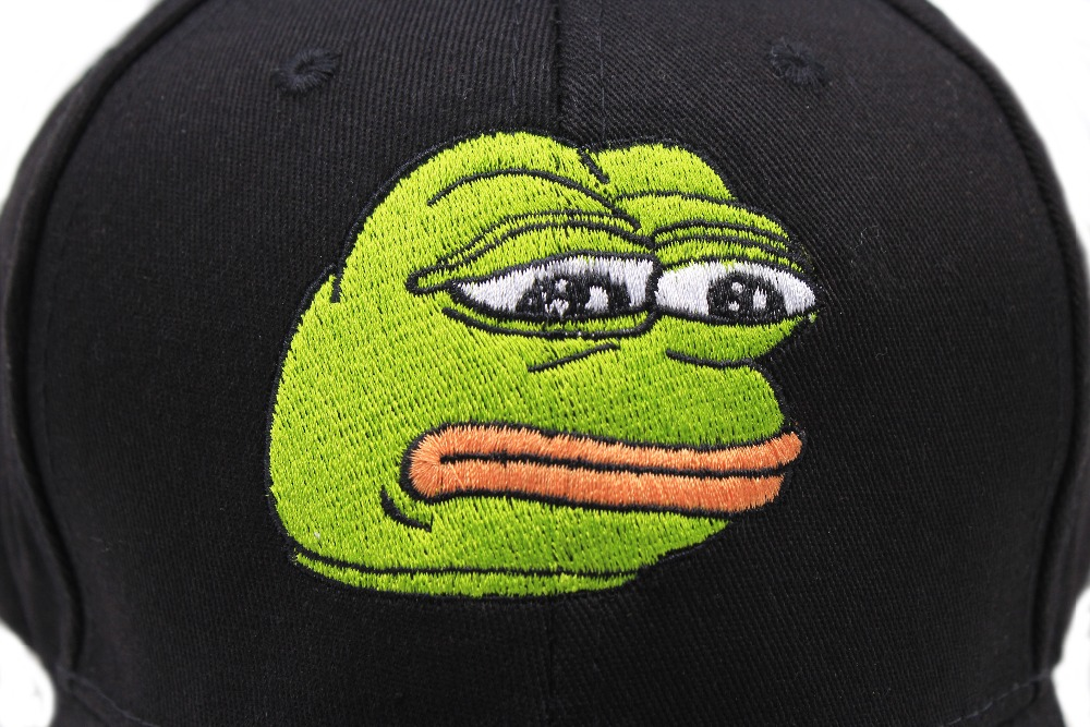 cb795fea Unisex Emotion Sad Frog Dad Hat Baseball Cap Pepe Life Sucks Hat Black Dad  Cap Strap back Frog Meme hat cap-in Baseball Caps from Apparel Accessories  on ...
