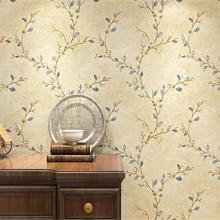 Papel de pared de beibehang roll Vintage papel tapiz de país americano jardín floral cálido grueso no tejido 3d papel tapiz dormitorio sala de estar