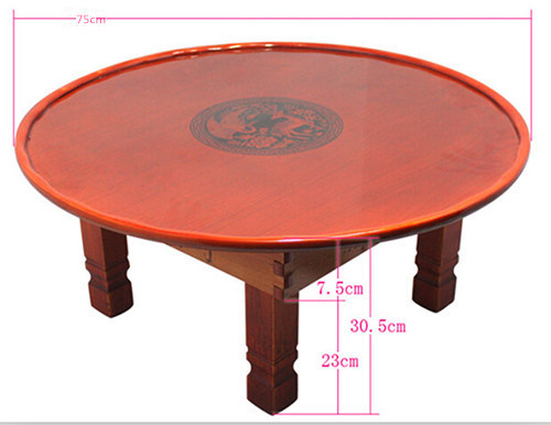 Aliexpresscom Buy Round Living Room Table 75cm Folding Leg