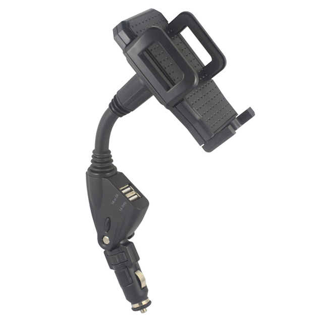 Ротари 2A Dual USB Мобильный Телефон Автомобильное Зарядное Устройство От Прикуривателя Держатель Стенды для ZTE Blade V Plus Blade V580, Nubia Z11 Max, Nubia Z9 Max