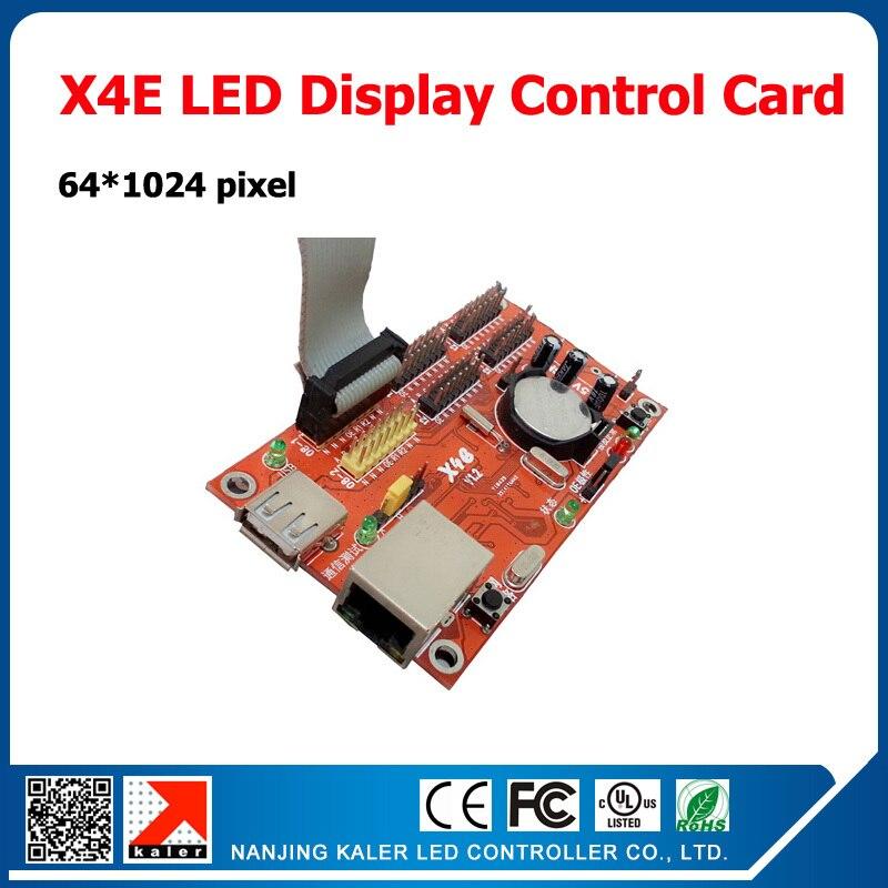 China Manufacturer Kaler Led Display Control Card X4E Ethernet Input Programmable And Scrolling Message Led Display Controller