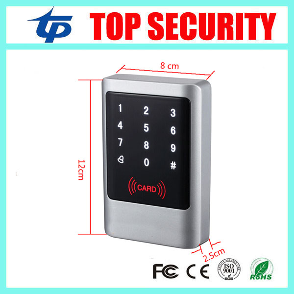 IP65 waterproof smart card access control system standalone IC card 13.56MHZ mi-fare card access control reader with led keypad metal rfid em card reader ip68 waterproof metal standalone door lock access control system with keypad 2000 card users capacity