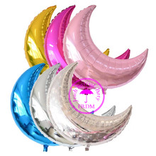 large party foil birthday balloons metallized big baloons children birthday decoration supplies big giant moon balloon недорого