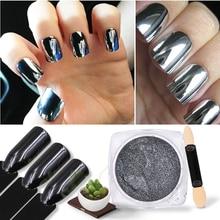 1g/box Black Magic Mirror Nail Glitter Powder Shining Chrome Pigment Dust DIY Art Decorations
