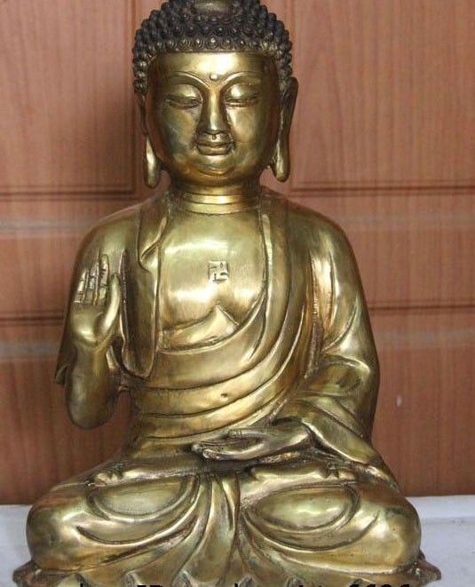 11 Tibet Buddhism Copper Brass Tathagata Amitabha Sakyamuni Ru Lai Buddha Statue11 Tibet Buddhism Copper Brass Tathagata Amitabha Sakyamuni Ru Lai Buddha Statue