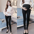 New Arrival black Cotton Pregnant Women trousers with pearls Elastic Waist Maternity Pants Pregnant Clothes For Pregnant Women