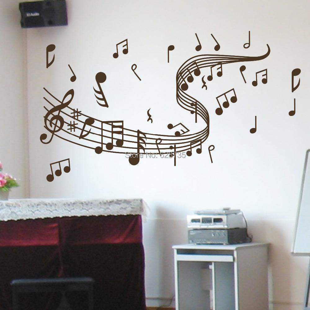 Aliexpress.com : Buy Music Note Wall Stickers , Vinyl Wall Stickers Home  Decor Music , Musical Home Decoration ,Free Shipping W10062 From Reliable  Stickers ... Part 58