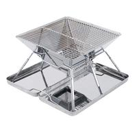 Portable Folding BBQ Grill Stainless Steel Barbecue Charcoal Grills for Outdoor Camping Picnic BBQ Accessories