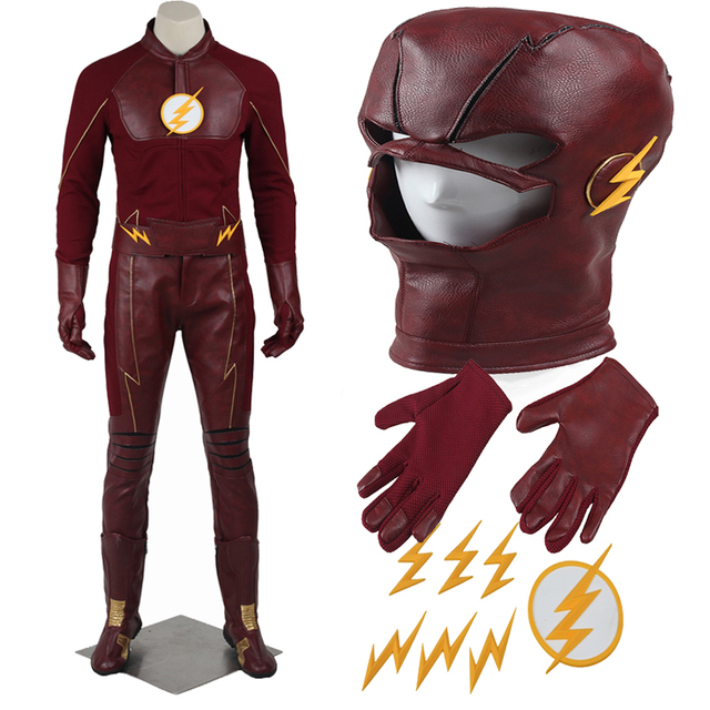 Original The Flash Season 2 Barry Allen Cosplay Costume