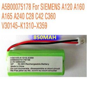 A5B00075178 2.4V 850MAH For SIEMENS A120 A160 A165 A240 C28 C42 C360 V30145-K1310-X359 Telephone High quality Li-ion Battery(China)