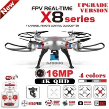 SYMA X8 X8C X8W X8G X8HG RC Drone With SJ9000 16MP 4K WiFi Camera 2.4G 4CH FPV Quadcopter Professional Drone Helicopter 4 Colors