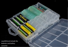 5pcs/lot AA AAA C D 9V Battery Storage Boxes Case Plastic Holder Organizer with hook handle Clear Batteries Container