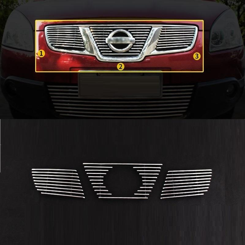 Grille automobile decorative car styling decoration accessories sticker strip protecter covers 11 12 13 14 15 FOR Nissan Qashqai automobile car styling accessories chromium 2014 17 modified bumper grille trim strip grid decorative bright for toyota vios