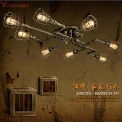 Vitrust Indutrial żyrandole lampa oprawy Vintage Loft lampy Bar Cafe salon jadalnia Waterpipe żarówka edisona Holder