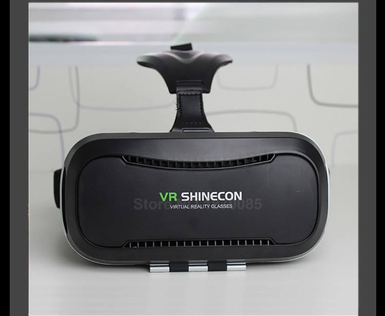 New VR Shinecon II 2.0 Helmet Cardboard Virtual Reality Glasses Mobile Phone 3D Video Movie for 4.7-6.0 Smartphone with Gamepad (23)