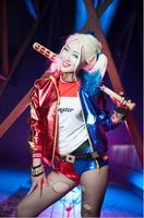 Batman DC Comics Suicide Squad Harley Quinn Costume Outfit Glove Full Set Movie Halloween Cosplay Costumes For Women New Arrival