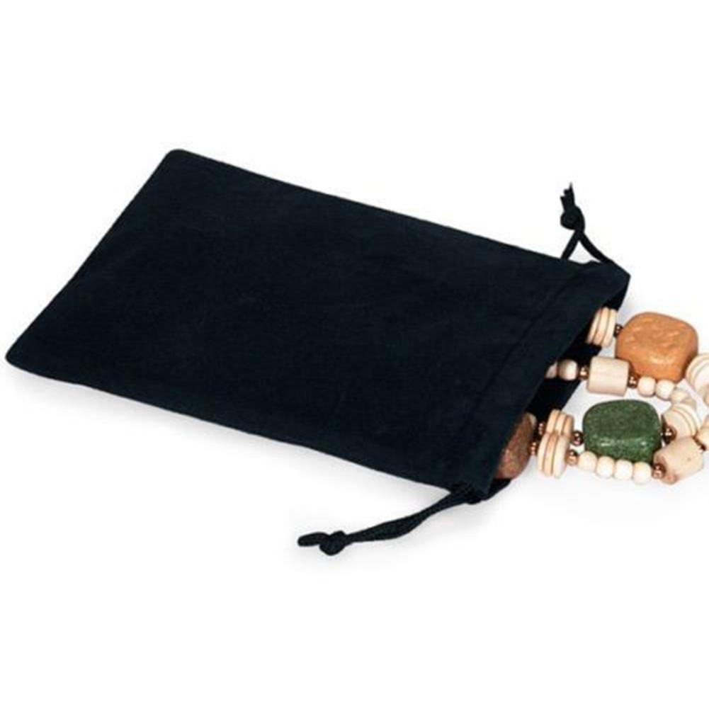 1Pc Black Velvet Drawstring Candy Jewelry Storage Pouch Wedding Gift Favour Bag Dropshipping