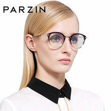 PARZIN plástico titanio miopía gafas marco con lente transparente de alta  calidad Ultra-ligero TR90 óptica prescripción gafas ma. 5958e39222ea