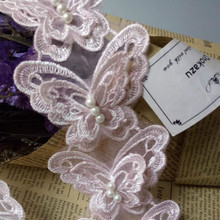 Organza Lace Craft Ribbon-Sewing-Supplies Trim Wedding Butterfly Flower-Soluble Patchwork