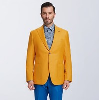 Men Wedding Suits 2018 Latest Coat yellow blue Pant Designs Suit casual jacket pant Business suits party groom blazers suit