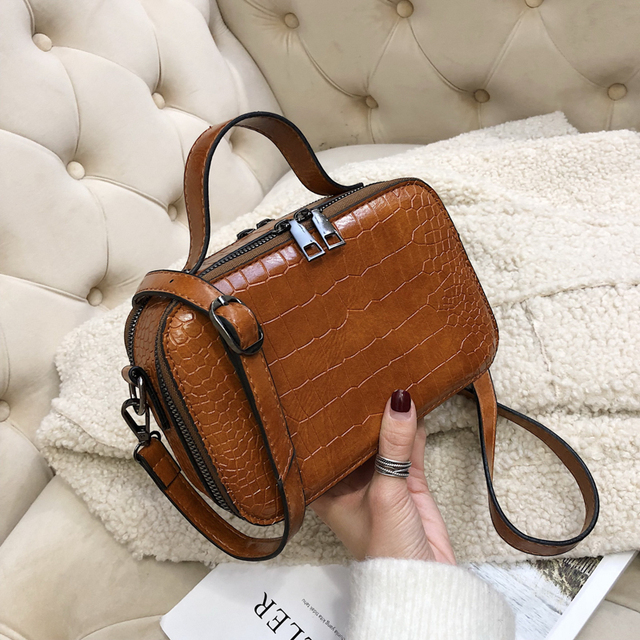 Stone Pattern Crossbody Bags For Women 2019 Fashion Small Solid Colors  Shoulder Bag Female Handbags and Purses With Handle New ade4afadeb34