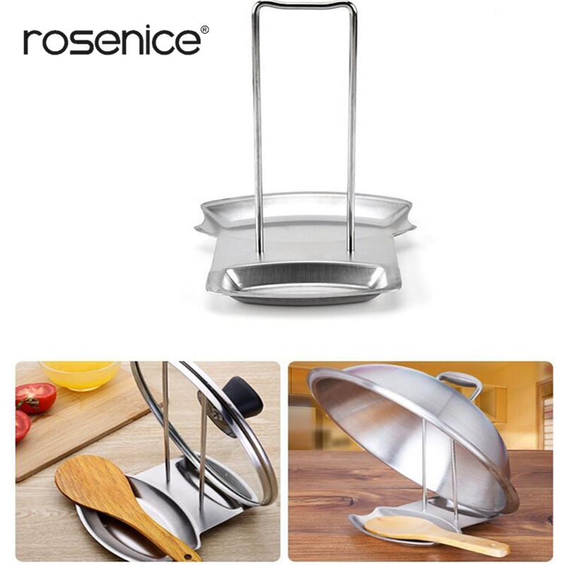 Home Spoon Organizer New Pan Pot Cover Lid Rack Stand Holder O6V9