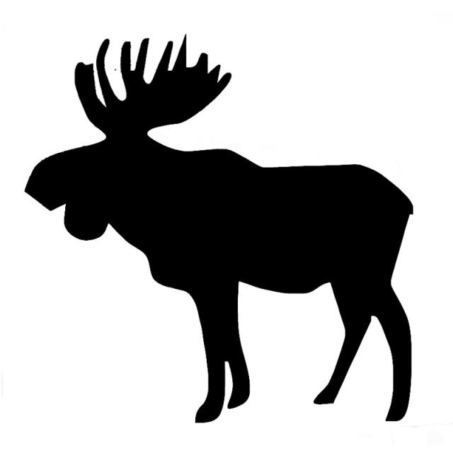 Wholesale 10pcs lot 20pcs lot moose decal vinyl car window sticker for auto bumper