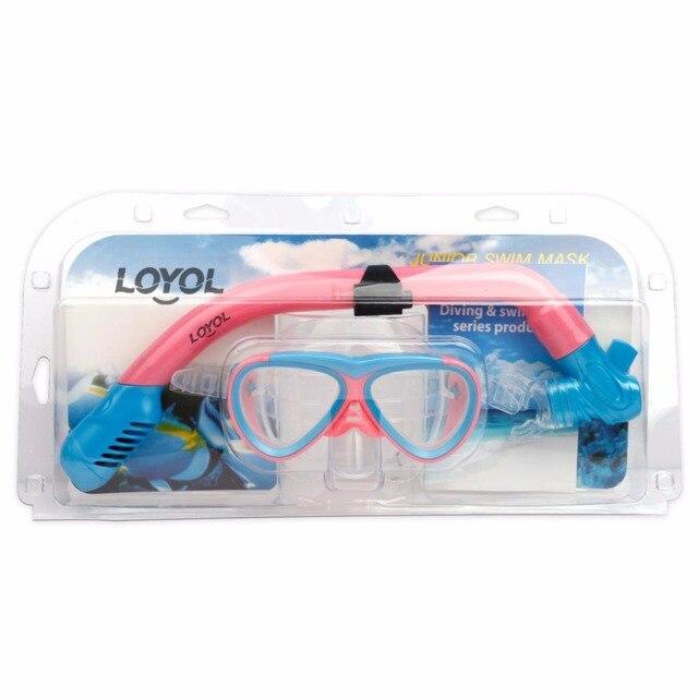 b62eff81aeaf New Children kids Scuba Diving Mask Snorkel Glasses Set Anti-Fog Goggles  swim eyewear Swimming mask