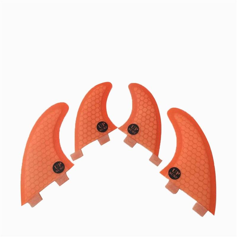FCS Fin Nid D'abeille Orange/Bleu aileron de planche de Surf Quilhas FCS-G5 + GL-Quad-Ailettes En Fiber De Verre Surf Fin livraison Gratuite