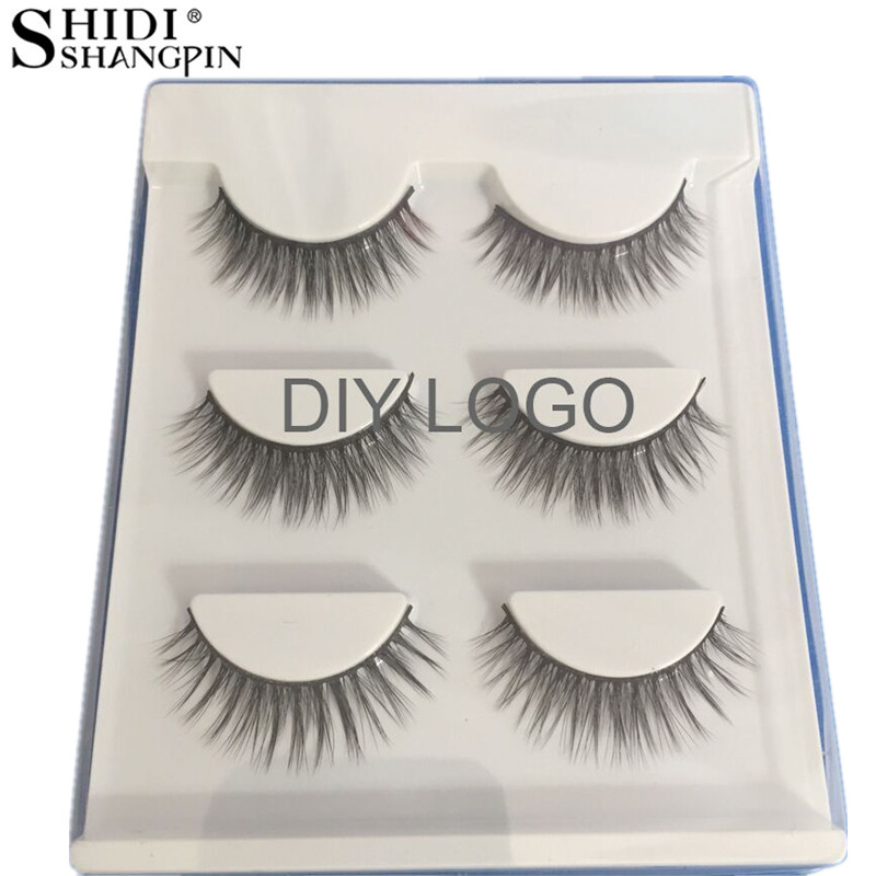 e4d5301a752 SHIDISHANGPIN 60 Pairs False Eyelashes Natural Long Customize 3d Mink Lashes  Makeup Fake Eyelashes Private Label Mink Eyelashes