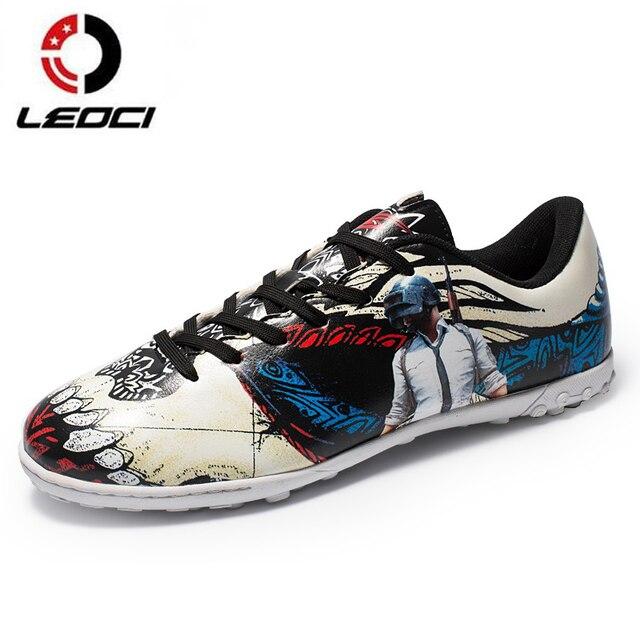 Tamanho 33-44 LEOCI Homens Meninos Caçoa o Futebol Chuteiras Turf Superfly Chuteiras  Sapatos De 2b2675f636184