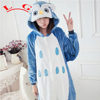L G Winter Pajamas All In One Flannel Anime Pajama Sets Cute Cartoon Owl Adult Women