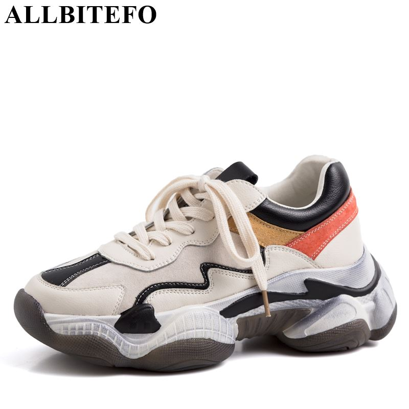 ALLBITEFO genuine leather striped flat heel shoes geometric spring women flats sneakers shoes round toe fashion sport shoesALLBITEFO genuine leather striped flat heel shoes geometric spring women flats sneakers shoes round toe fashion sport shoes