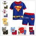 2016 жаркое лето новый хлопок мальчиков с коротким рукавом устанавливает дети пижамы pijama infantil для мальчиков детские пижамы одежда