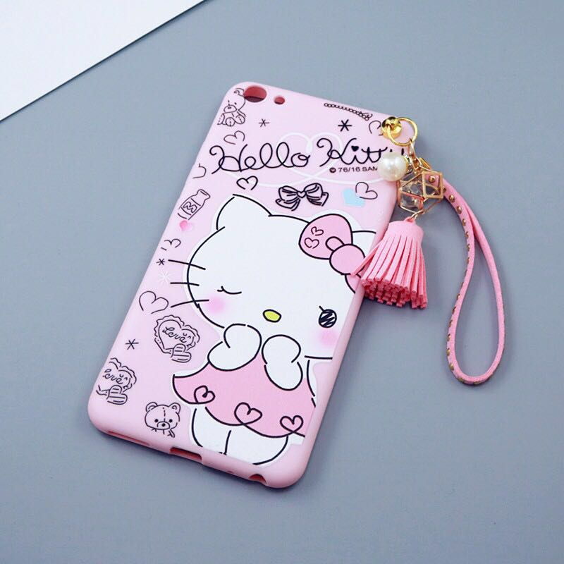 5da9eb0b1172 Cute Carton Hello Kitty Dogs Cats Tassels Soft Cases For Oppo F1s  Strawberry Fruits Girls Case For Oppo F1 PLUS F3 PLUS A59-in Fitted Cases  from Cellphones ...