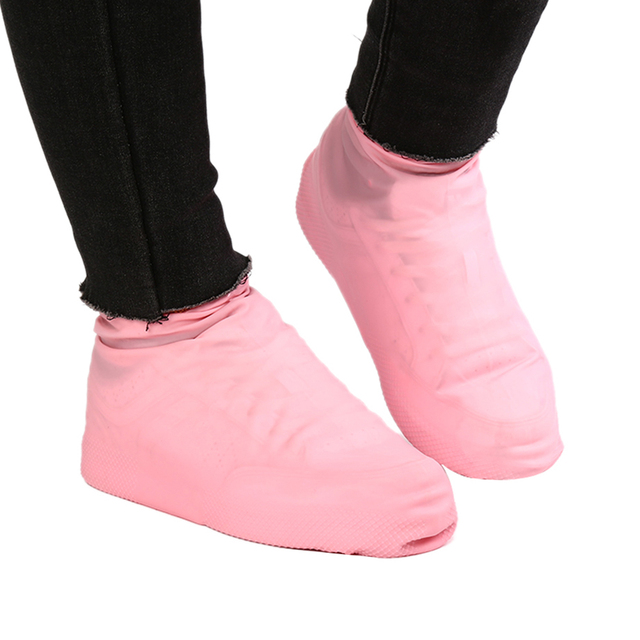 1 Pair Reusable Latex Waterproof Rain Shoes Covers Slip-resistant Rubber Rain Boot Overshoes S/M/L Shoes Accessories 1