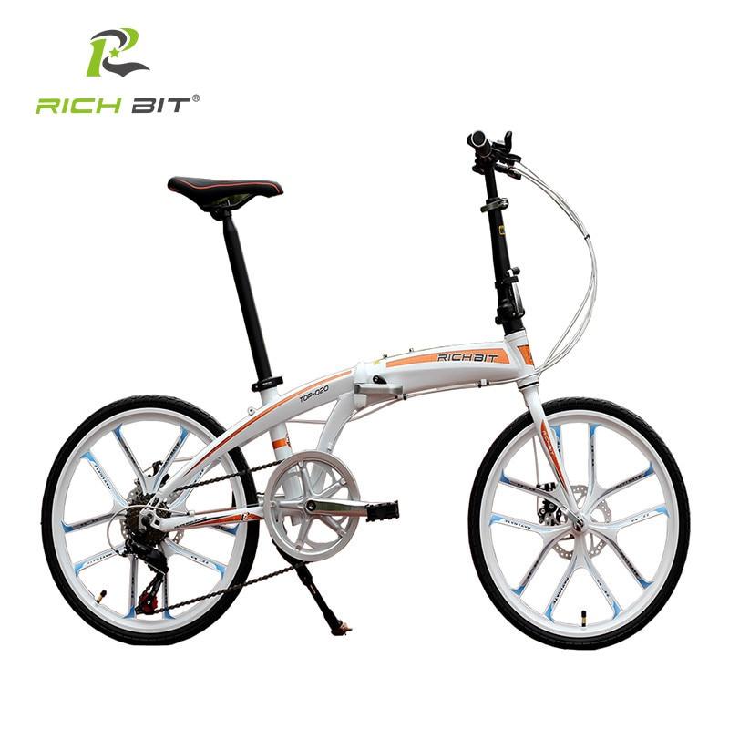 RichBit New 20 Mini Folding Bike Quick Release Folding Bicycle Mechanical Disc Brake Folding City Cycling With Integrated Rim