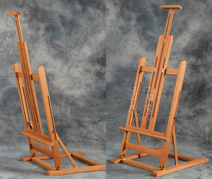 Image 3 - Multi purpose lifting oil painting easel folding sketch easel artist exhibition stand wood painting cavalete advertising  board